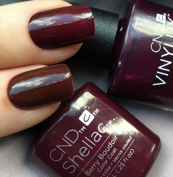 Cnd Shellac Berry Boudoir Nail Polish Nail Shop