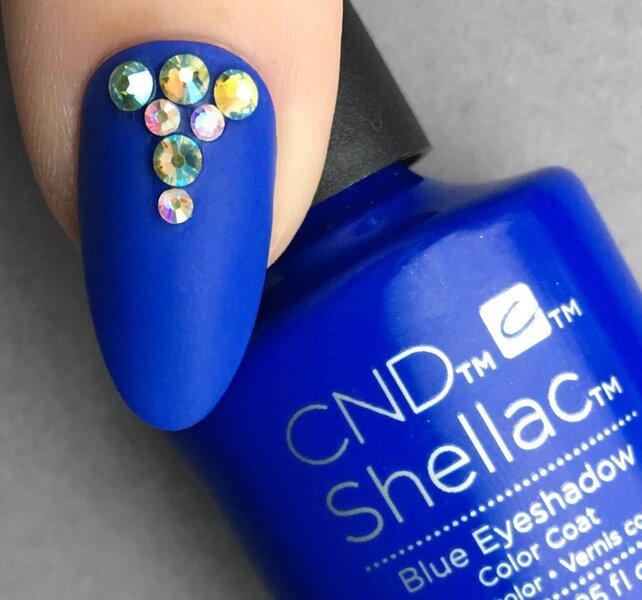 Cnd Shellac Blue Eyeshadow Nail Polish Nail Shop
