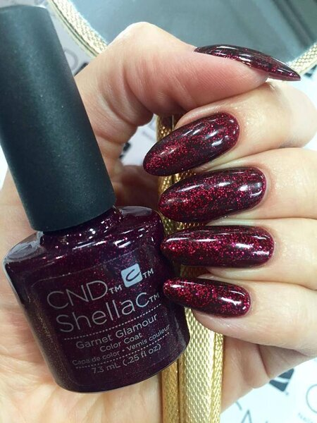Cnd Shellac Garnet Glamour Nail Polish Nail Shop