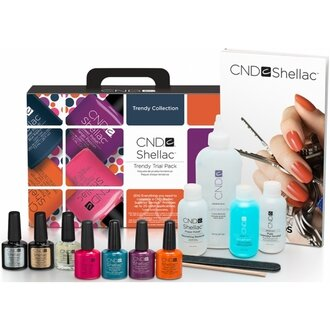 Набор CND Led Lamp + Shellac Trendy Collection