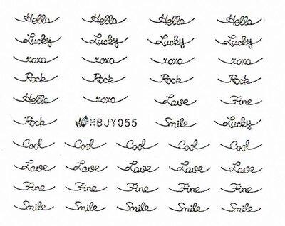 Наклейки для ногтей (стикеры) 055