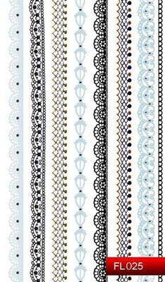 Наклейки для ногтей (стикеры) FL 025