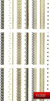 Наклейки для ногтей (стикеры) FL 032