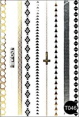 Флэш-тату временные татуировки-наклейки T046