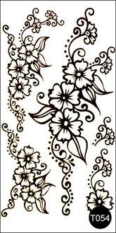Флэш-тату временные татуировки-наклейки T054