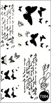 Флэш-тату временные татуировки-наклейки T064