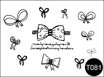 Флэш-тату временные татуировки-наклейки T081