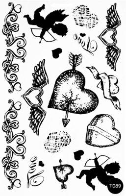 Флэш-тату временные татуировки-наклейки T089